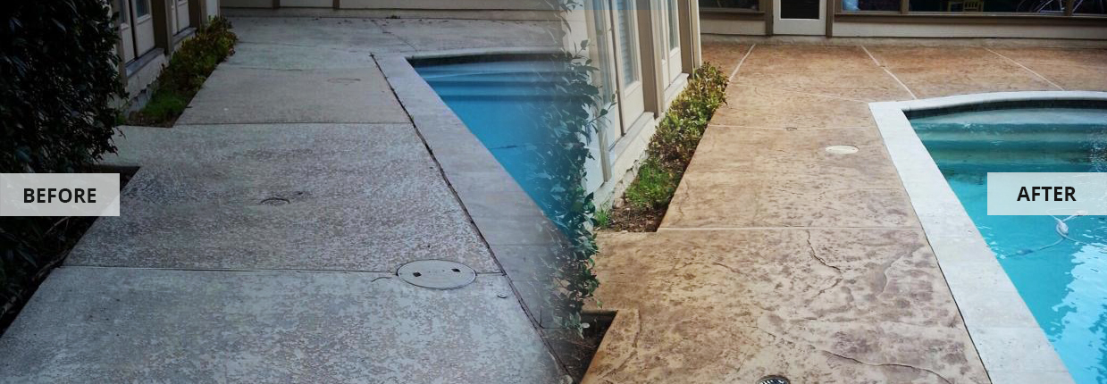 Decorative Concrete Resurfacing (Staining) Houston - Texas Curb n Borders